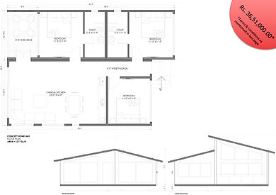 concept home 3BHK modular cottage
