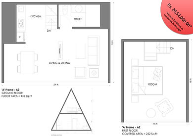 A Shape 1BHK modular cottage