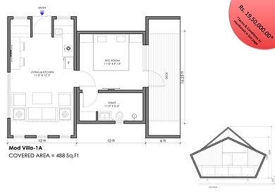 modvilla 1BHK modular cottage
