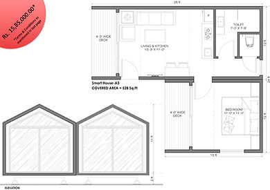 Smart House A3 1BHK modular cottage