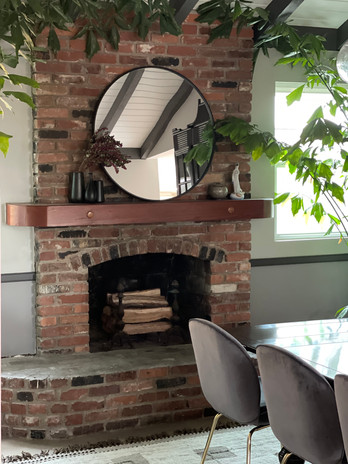 Dining Room Fireplace Detail