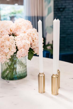 Hydrangeas on Dining Table