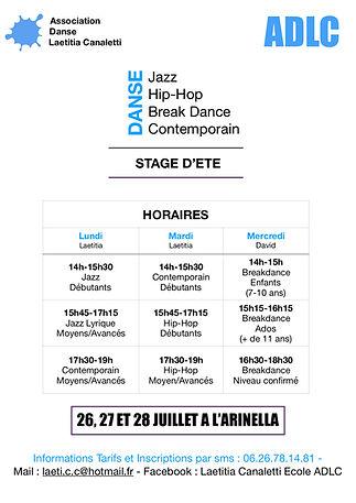 Affiche Stage Juillet Horaires 2021 JPG.jpg