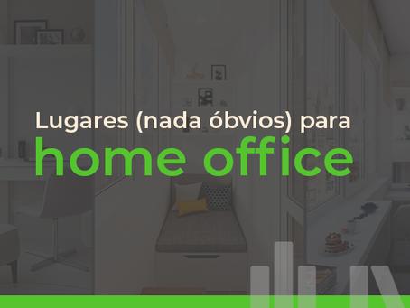 Lugares criativos (e nada óbvios) para home office