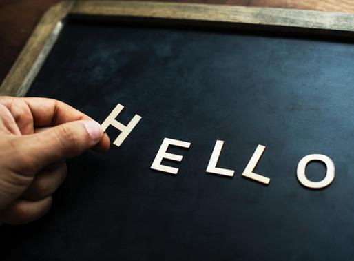Hallå! Uppstartsaktivitet