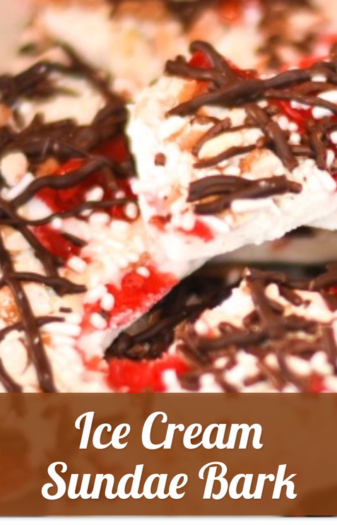 Ice Cream Sundae Bark
