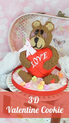 3D Valentine Cookies