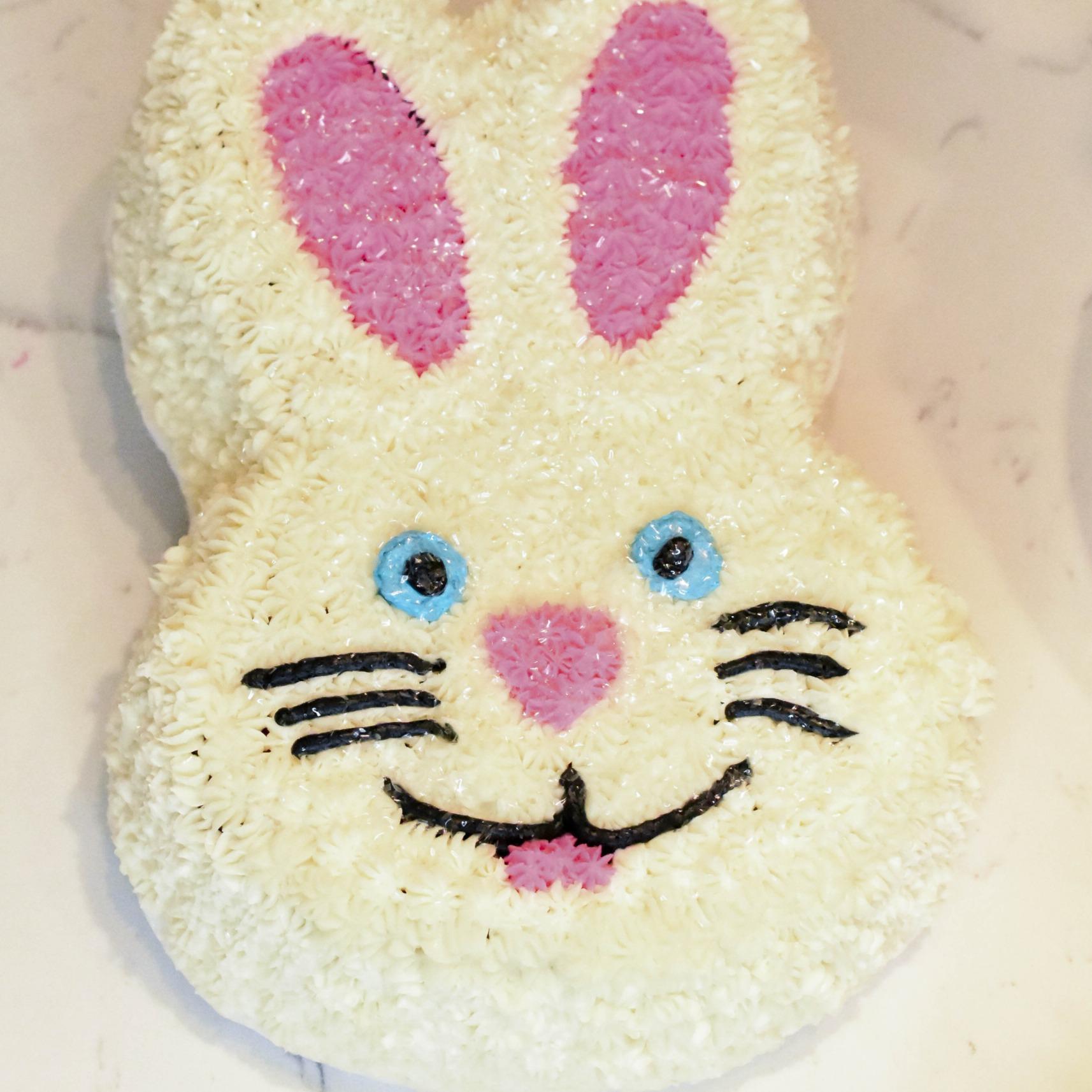 Use a bunny cake pan!