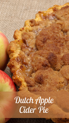 Dutch Apple Cider Pie