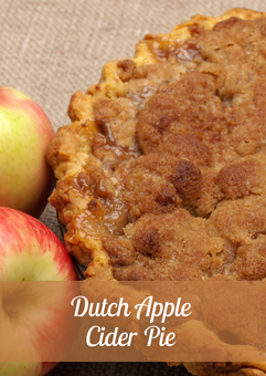 Dutch Apple Cider Pie