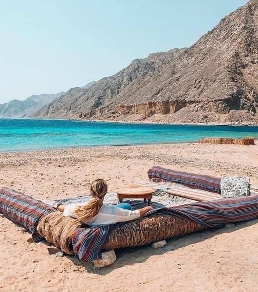 lounging on beach in dahab.jpeg
