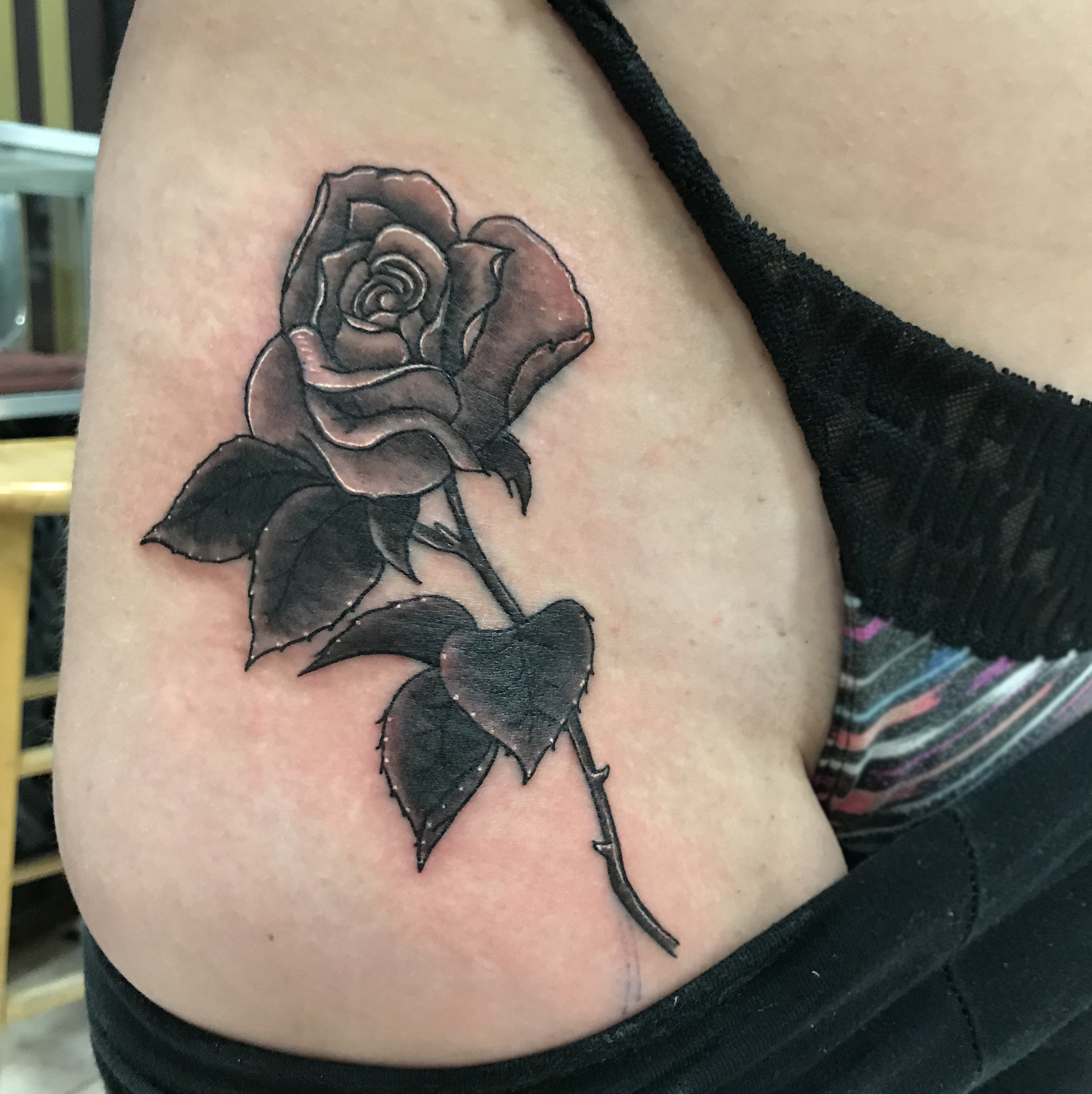 lallentattoo - Rose on Hip