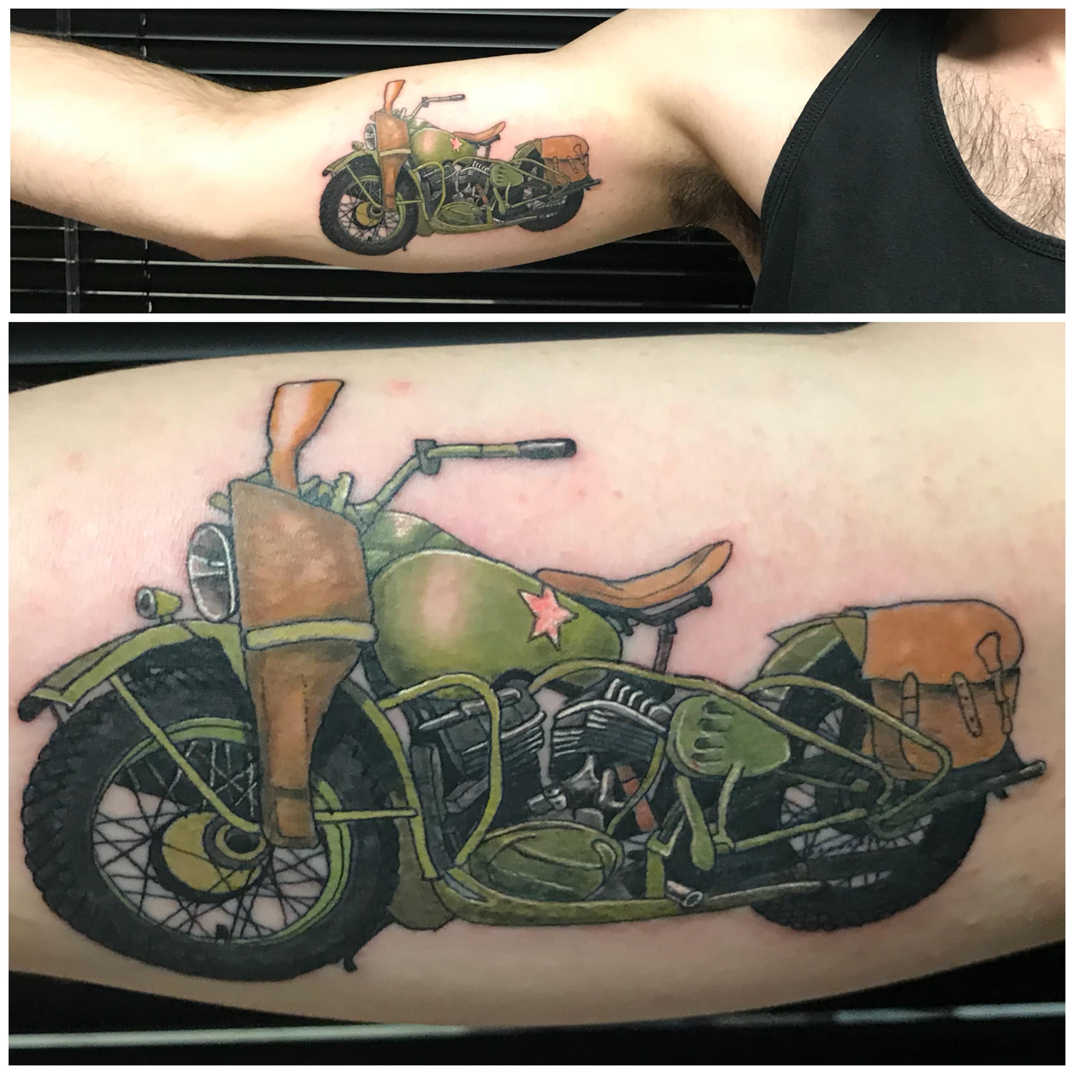 lallentattoo - WWII Harley Davidson