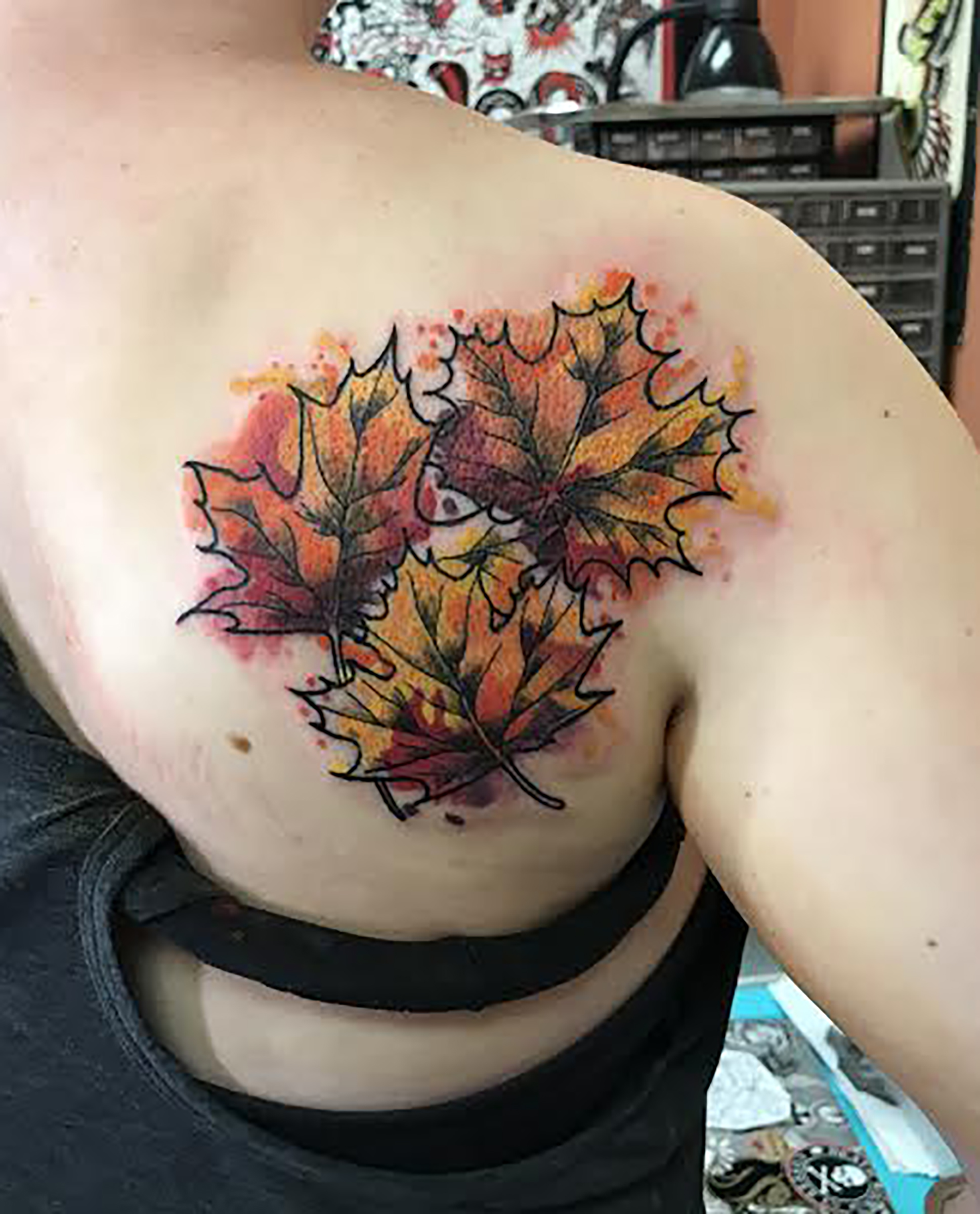 lallentattoo - Watercolor Leaves