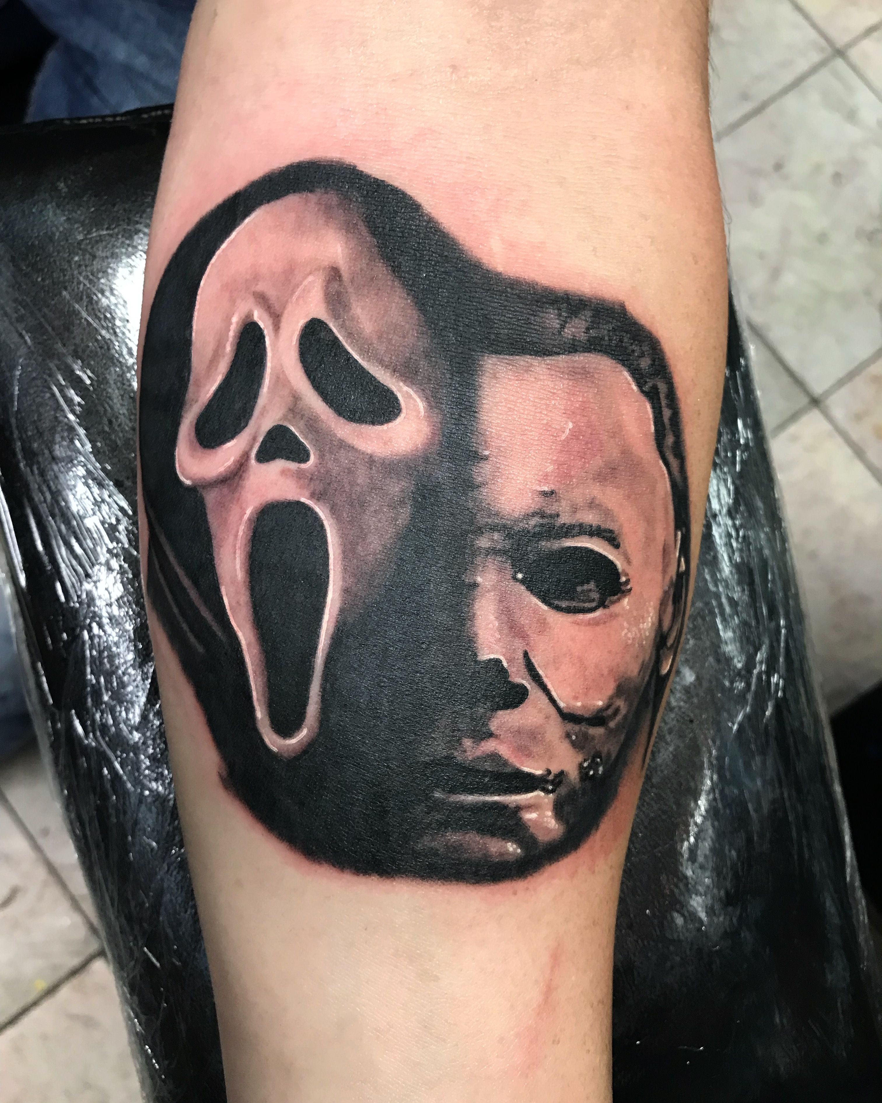 lallentattoo - Scream/Michael Myers