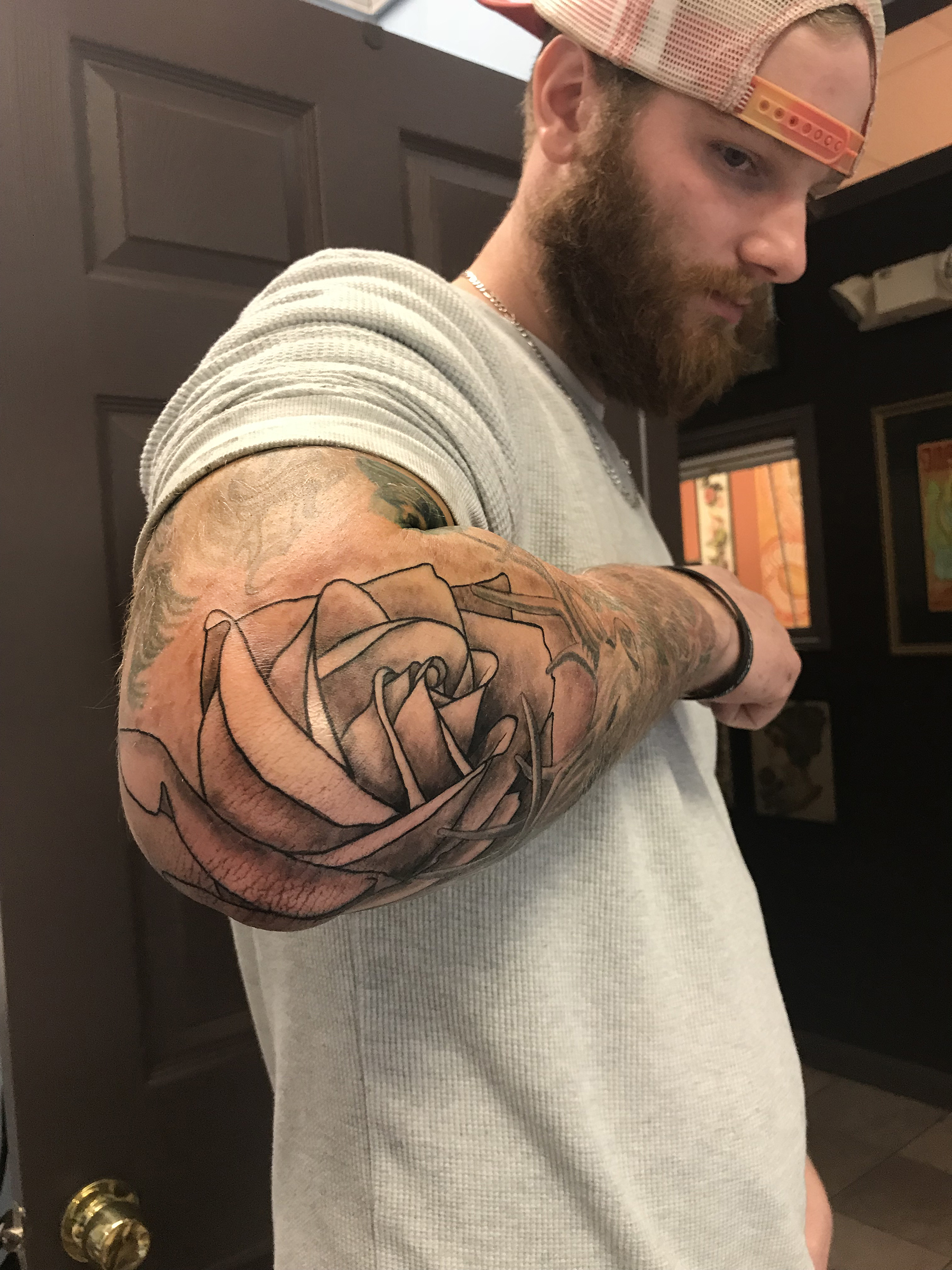 lallentattoo - Elbow Rose