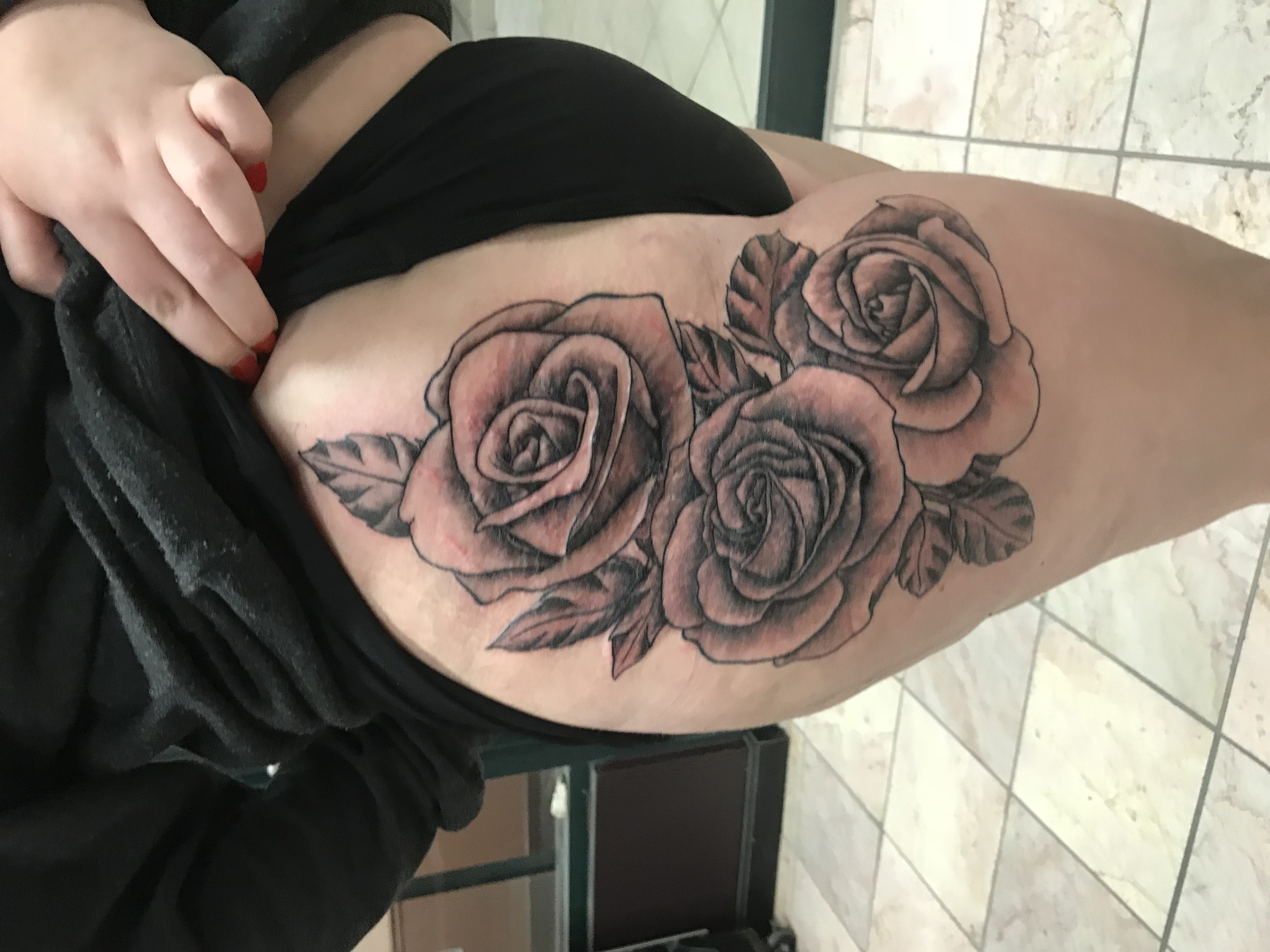 lallentattoo - Hip Roses