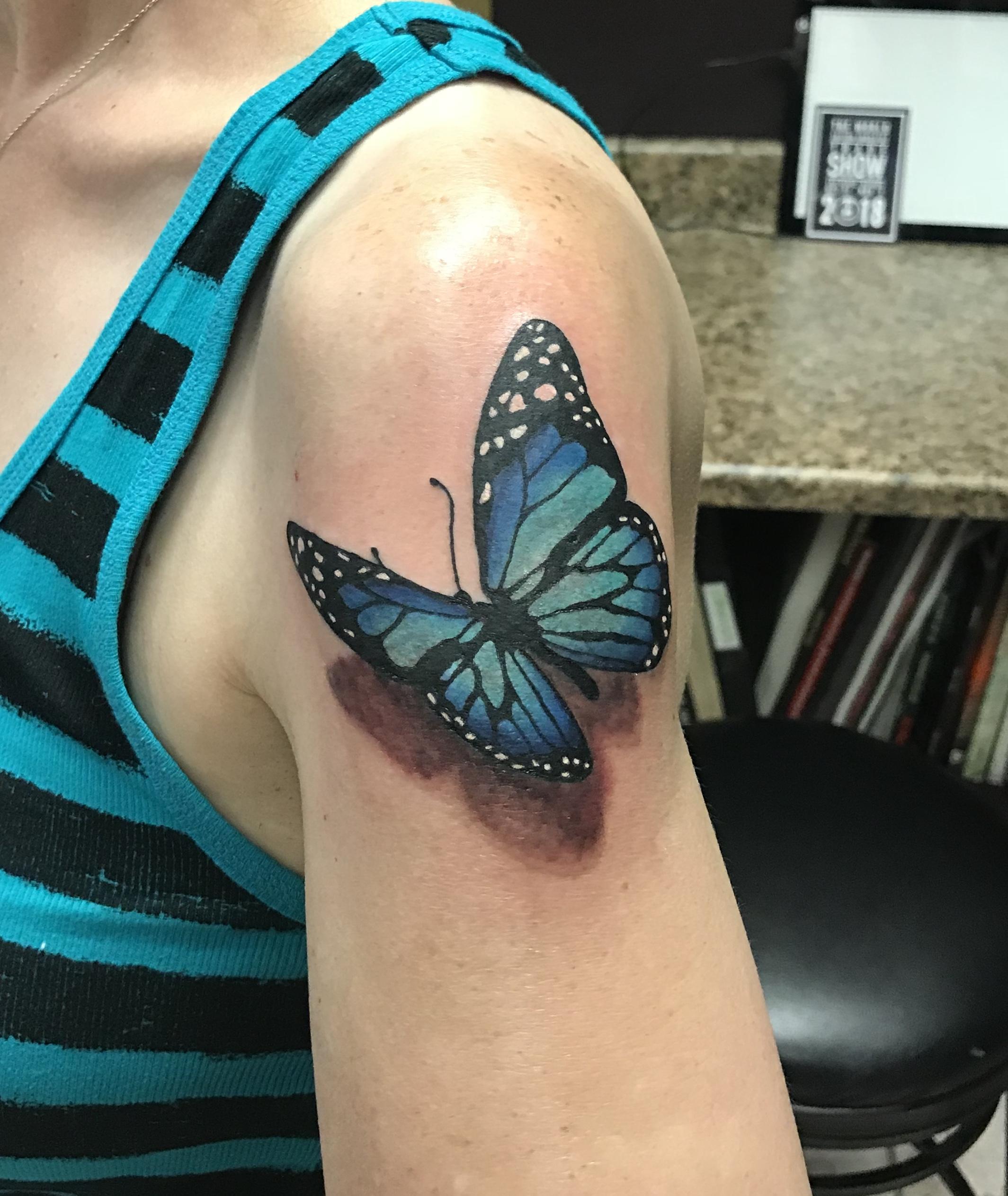 lallentattoo - Blue Butterfly
