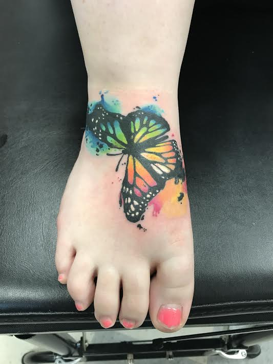 lallentattoo - water color butterfly