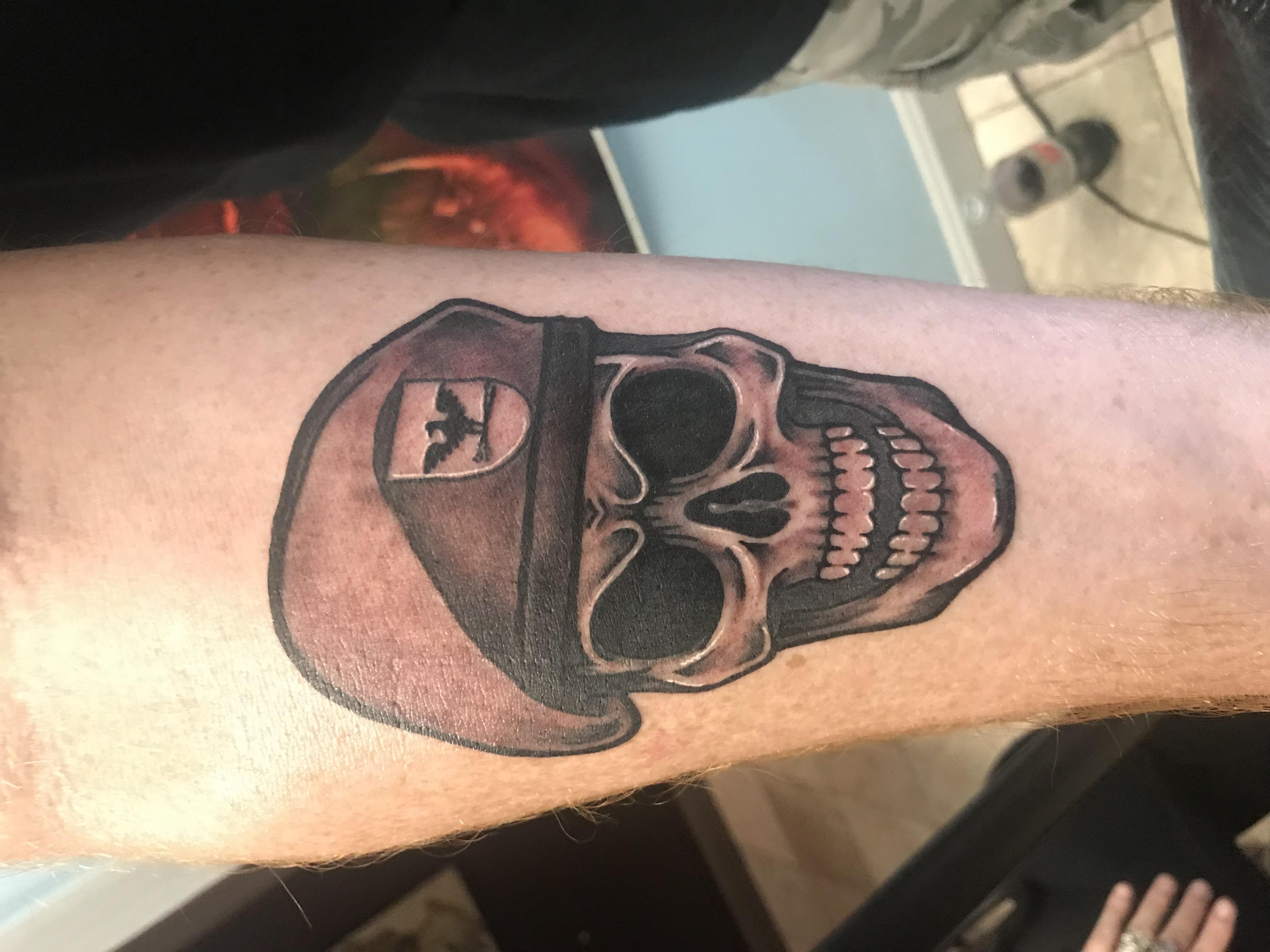 lallentattoo - Green Beret Skull
