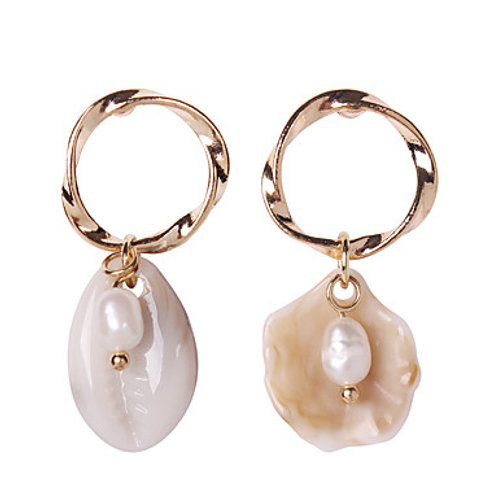 Mismatched Shell Hoops