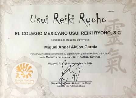 Diploma Maestria Reiki Tibetano Tántrico