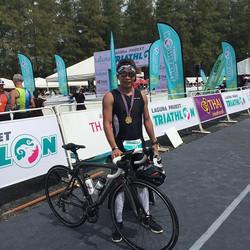 nailed it! such a crazy yet extremely memorable race! #lagunaphukettriathlon