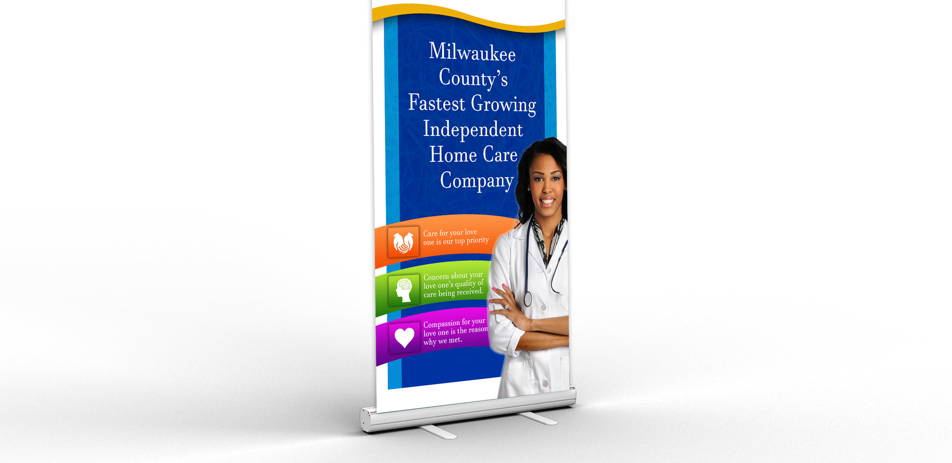 United Home Care Retractable Banner Mock