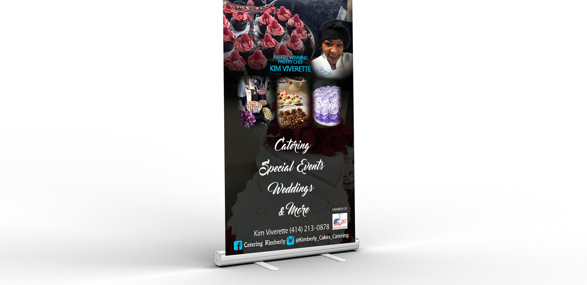 Cakes by Kimberly retractable banner moc