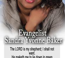 Sandra Yvonne Baker Obit  BookMark copy.