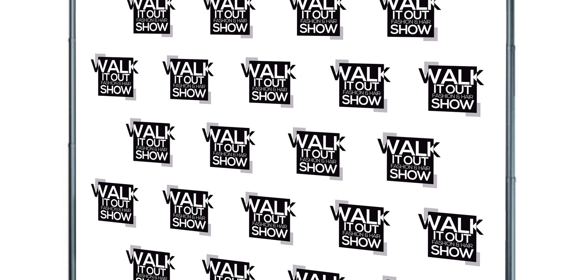 Walk It Out Fashion Show Backdrop   Samp