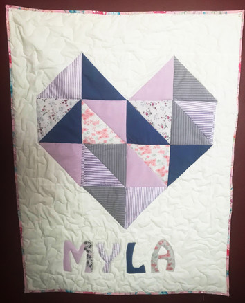 Child's Quilt Made From Grandma's Nightgowns