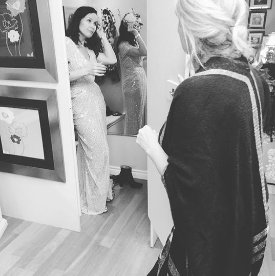 Behind the scenes at our fitting for our