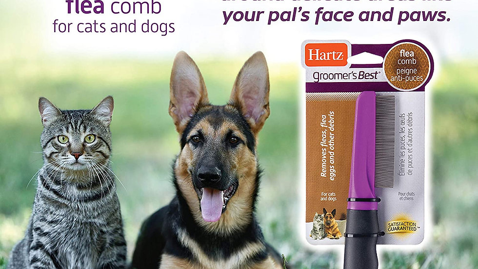 Hartz Groomer's Best Flea Comb for Cats and Dogs