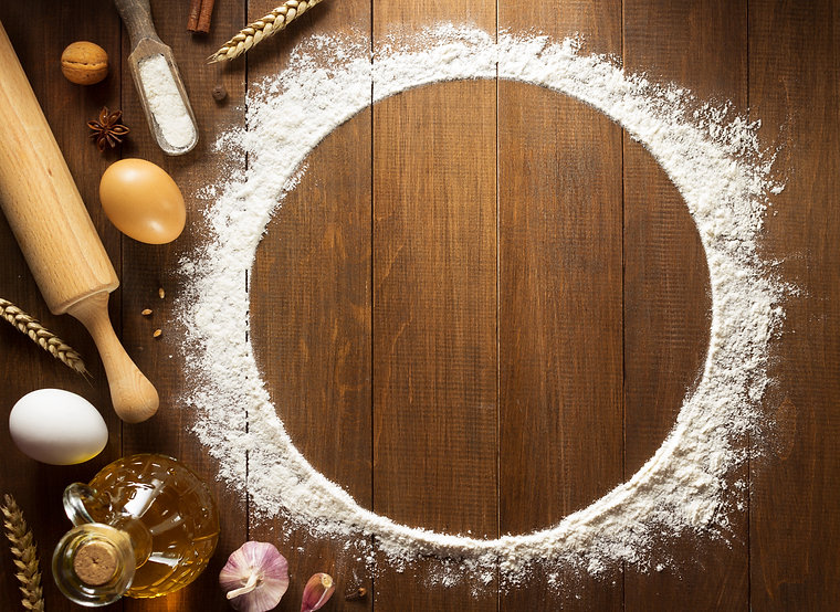 flour powder and  bakery ingredients on