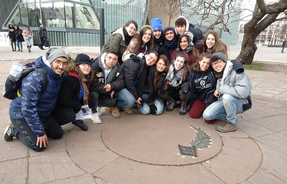 Yarden and her group in Warsaw, Poalnd