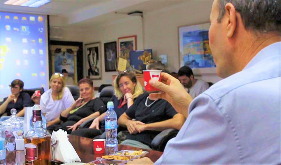 A Special New Years' Toast with the Mayor of Akko