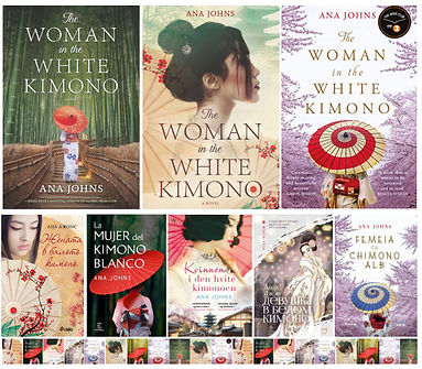 International covers of The Woman in the White Kimono