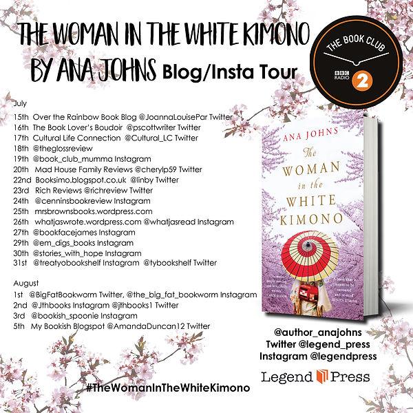 The Woman in the White Kimono Blog Tour.