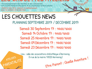 Ateliers - Les Chouettes News - fin 2017