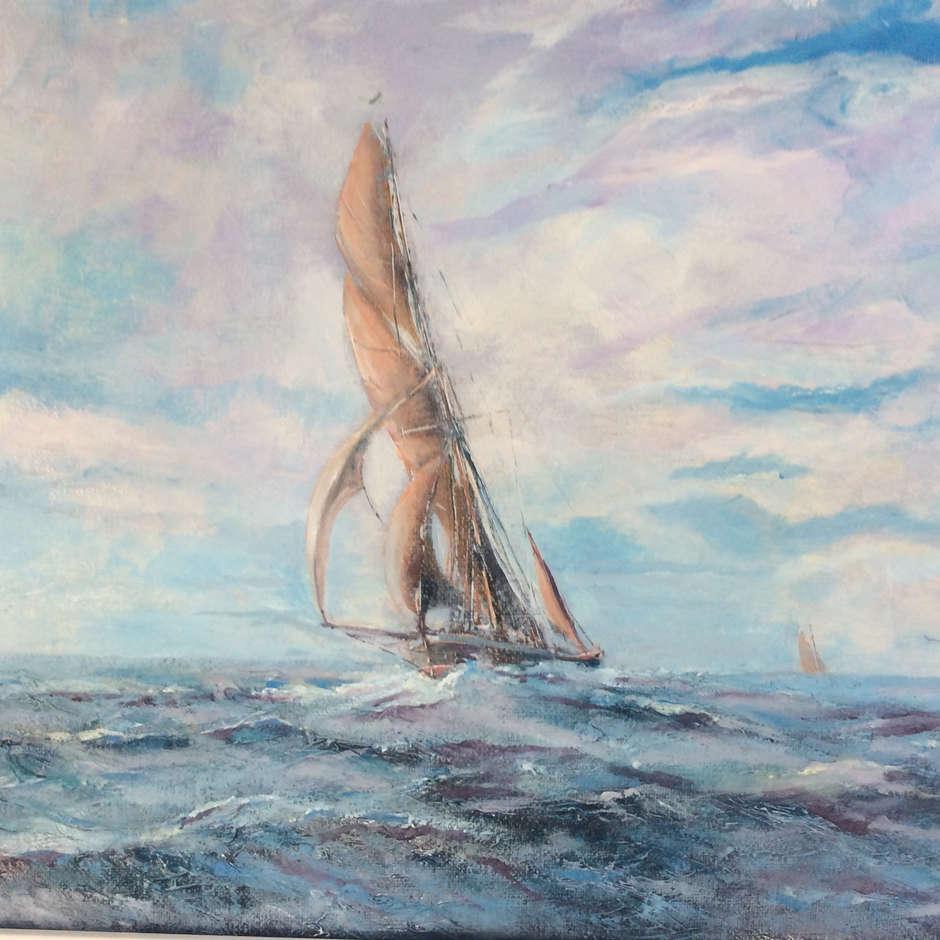 """Thames Barge off Whitaker Beacon"" Nick Martin"
