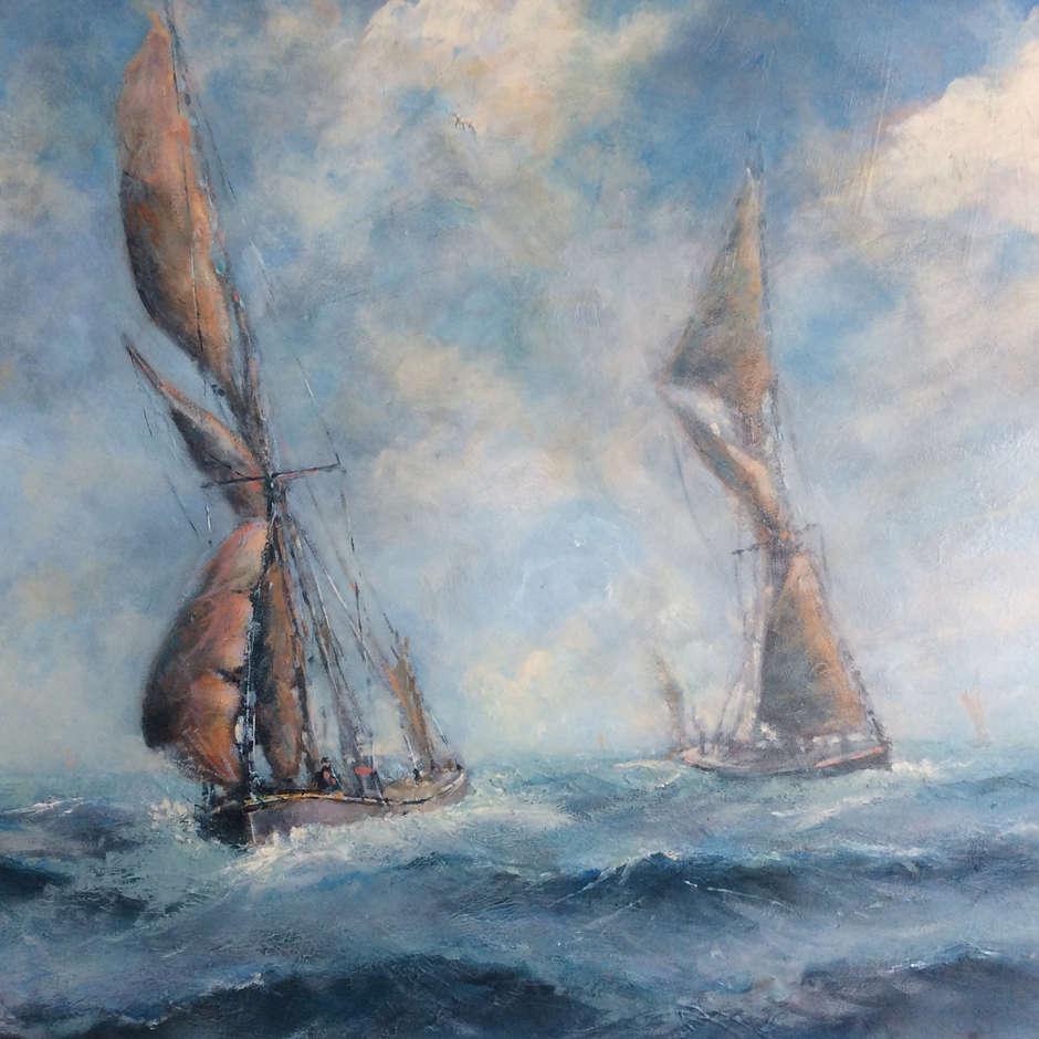 """""""Thames Barges"""" Nick Martin"""