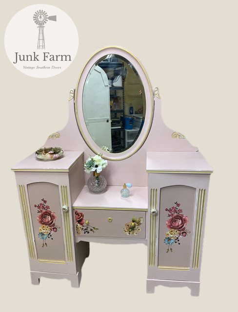 Early 1900's Vanity turned Shabby Chic