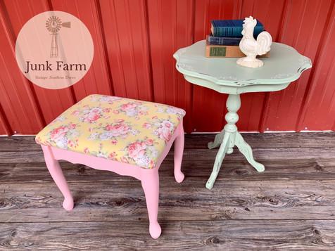 Vanity stool & Side Table