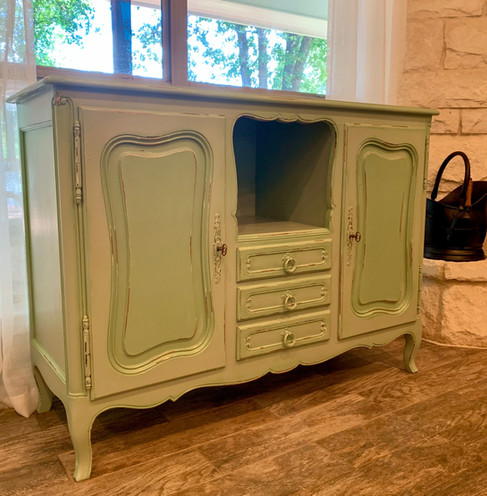 Early 1900's Farmhouse Green Dining Buffet