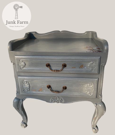 French provincial Louis XV style side tables
