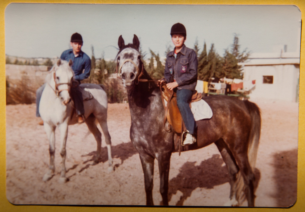 My first ride on a young Arabian mare