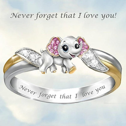 """""""Never Forget I Love You""""Engagement Ring"""