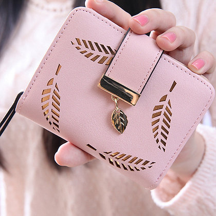 Women Leaf Bifold Wallet