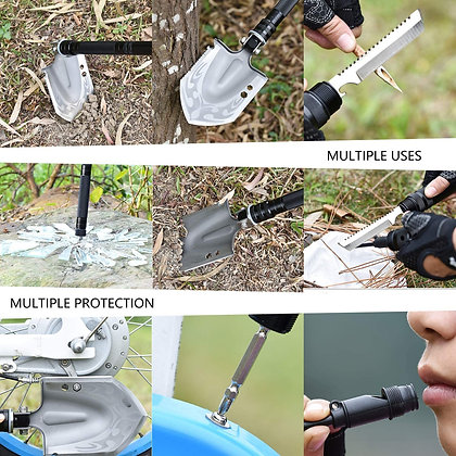 Military Folding Shovel Portable Survival Multitool Tactical